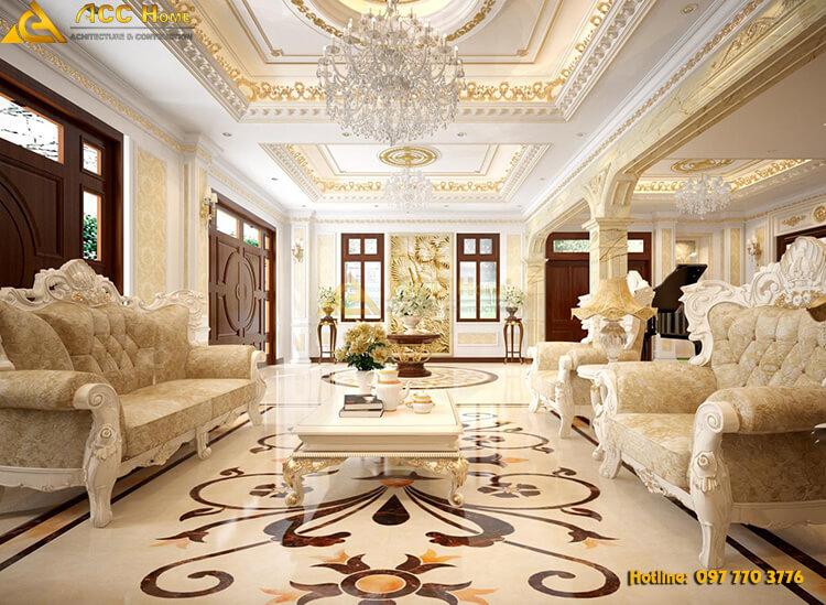 thiết kế phòng khách với không gian thông thoáng