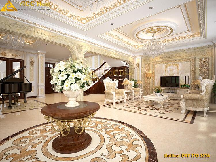 thiết kế nội thất trang trí phòng khách