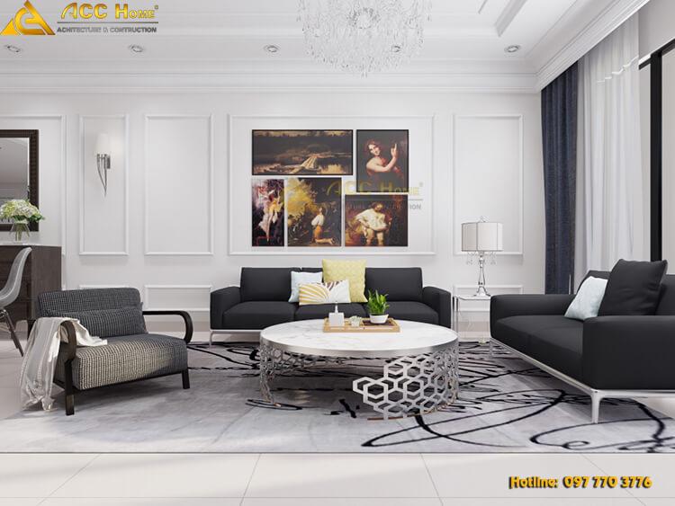 thiết kế nội thất tân cổ điển 81m2