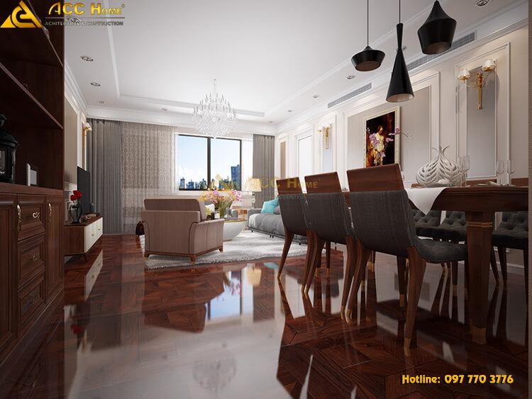 Phòng khách được phối sáng với ánh sáng tự nhiên