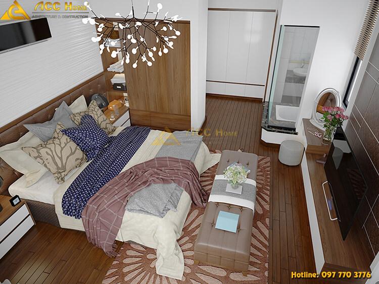 cách phối màu, không gian phòng ngủ
