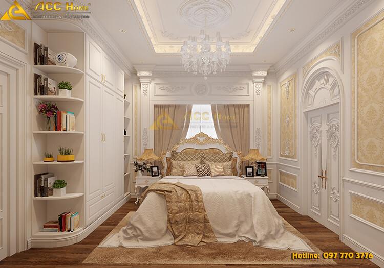 Thiết kế nội thất phòng ngủ sàn gỗ