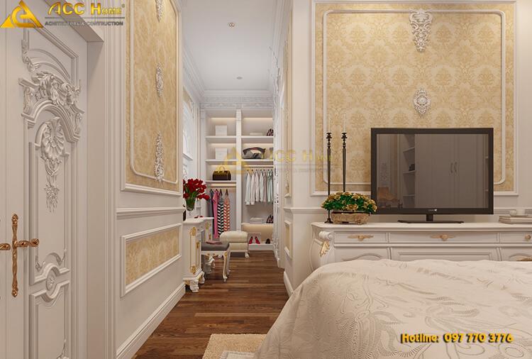 thiết kế không gian đi lại trong phòng ngủ