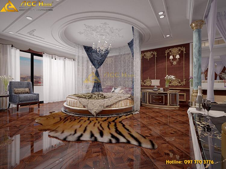 Thiết kế phòng ngủ theo phòng cách tân cổ điển