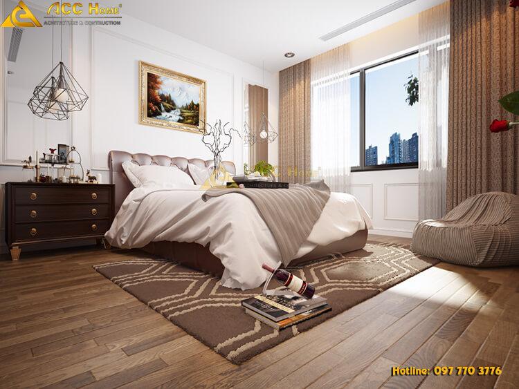 Thiết kế nội thất phòng ngủ chung cư 97 m7