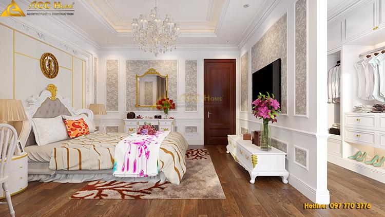 thiết kế phòng ngủ con gái sạch sẽ