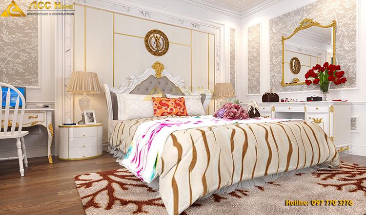 thiết kế nội thất giường ngủ con gái
