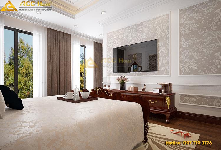 phòng ngủ master có góc nhìn ra ngoài cực đẹp