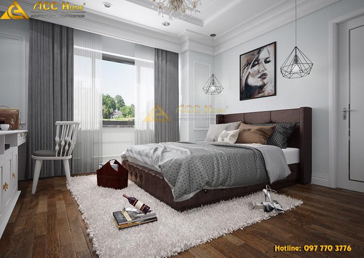 Thiết kế nội thất phòng ngủ chung cư 84m2