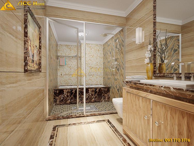 thiết kế nội thất phòng vệ sinh sạch sẽ tinh tế
