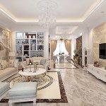 Thiết kế nội thất tân cổ điển căn hộ 72m2 khu đô thị Vinhome