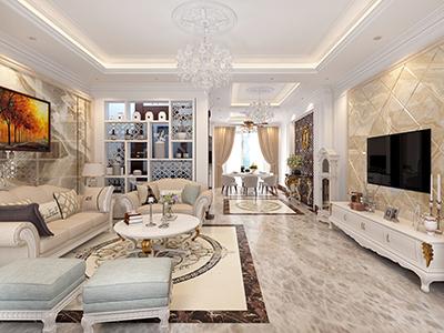 thiết kế nội thất căn hộ chung cư 72m2 tại khu đô thị vinhome long biên