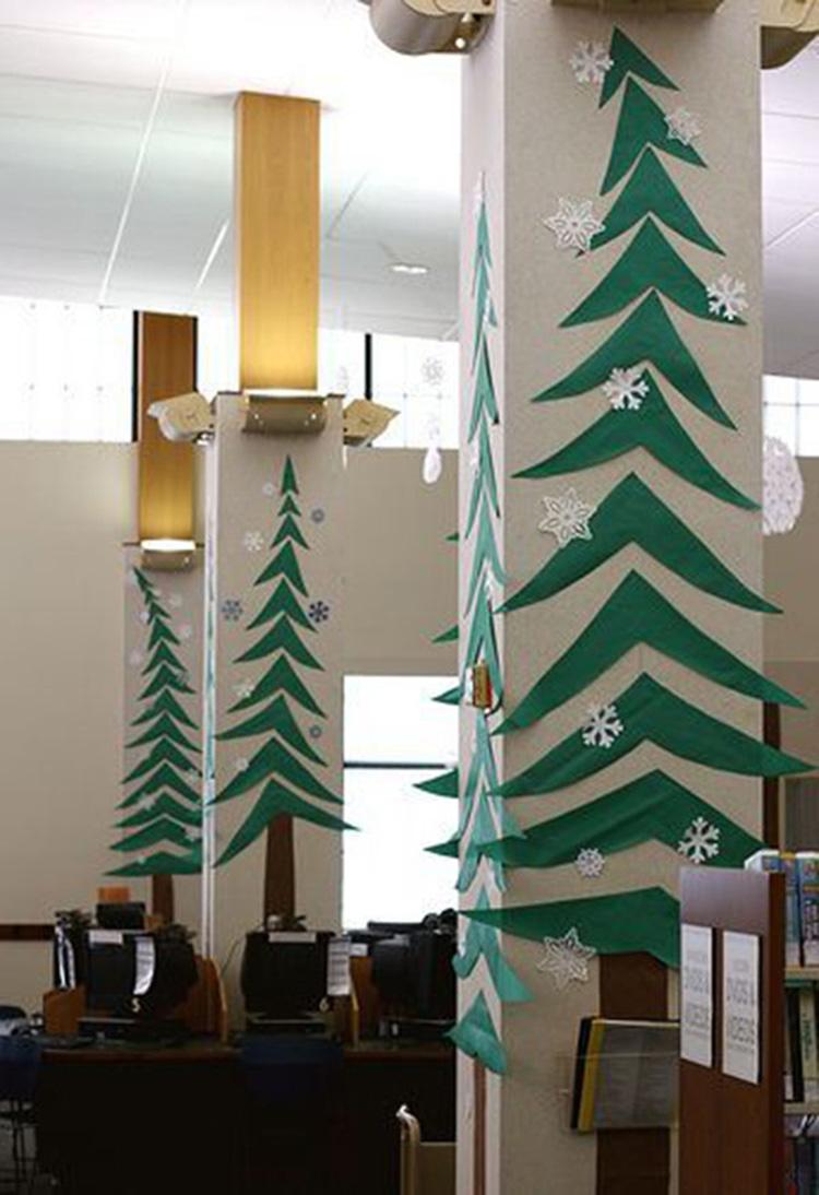 cây thông Noel bằng giấy