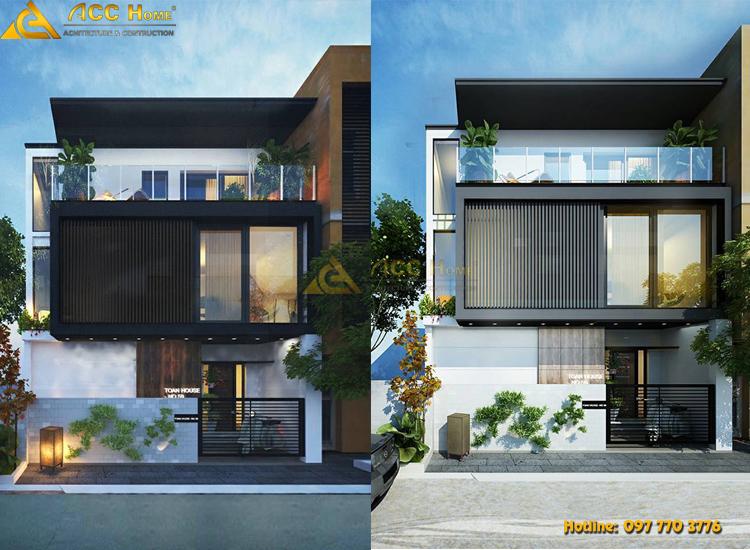 Mẫu thiết kế biệt thự hiện đại 120m2 3 tầng