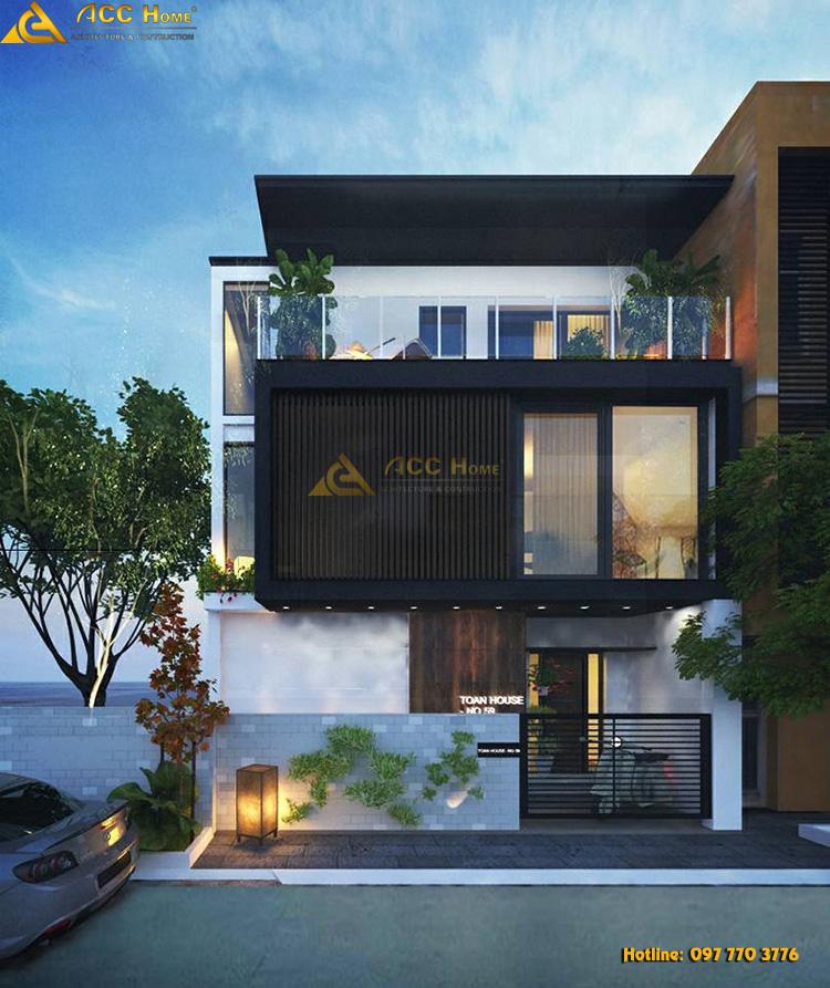 thiết kế căn biệt thự hiện đại theo phong cách châu âu