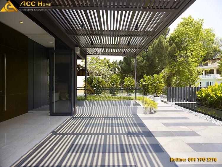 thiết kế tiền sảnh căn biệt thự hiện đại