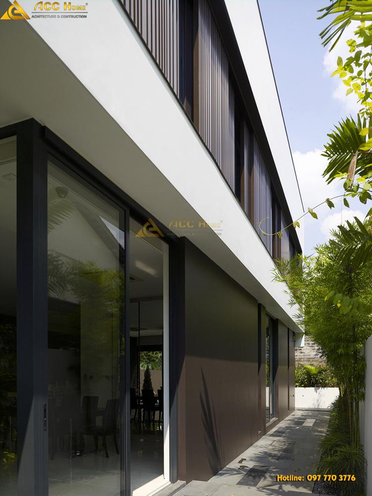 Công trình biệt thự được trang trí theo phong cách hiện đại