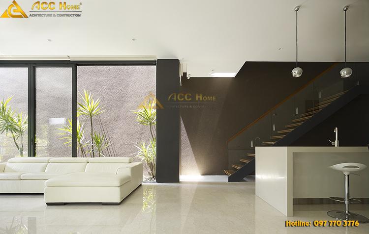 thiết kế nội thất phía trong căn biệt thự