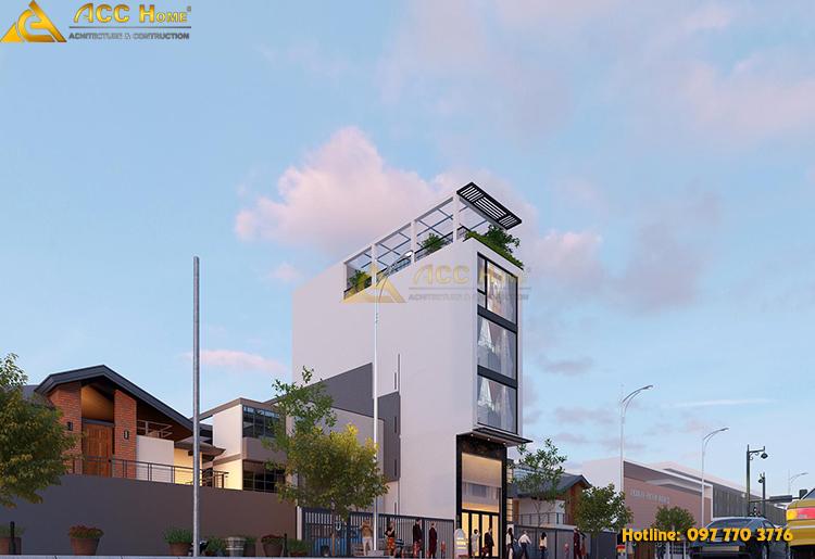 thiết kế công trình nhà phố kinh doanh