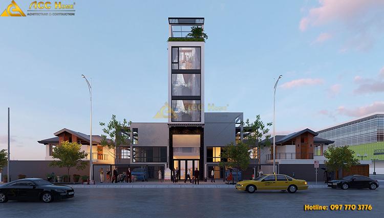 thiết kế nhà phố mặt tiền kinh doanh veston nam