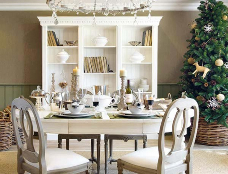tự trang trí phòng ăn đón giáng sinh