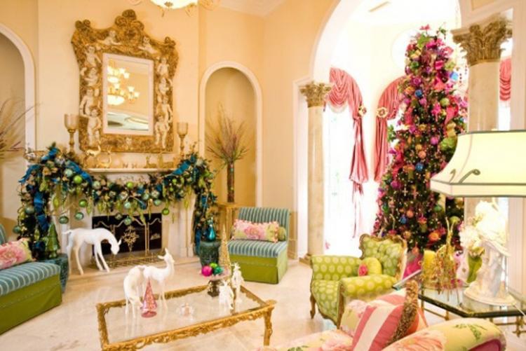trang trí phòng khách ấm áp đón giáng sinh