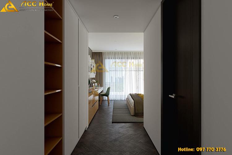 thiết kế lối hành lang dẫn vào phòng ngủ