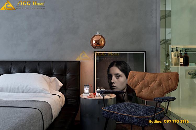 Phòng ngủ được thiết kế với phong cách cổ điển