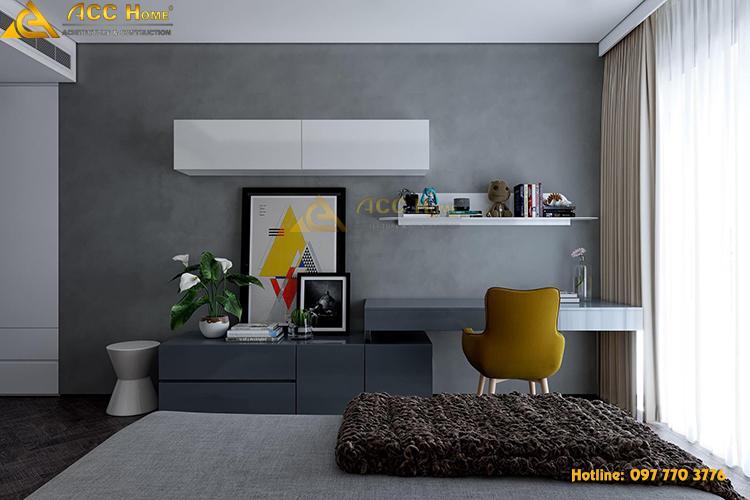thiết kế nội thất bàn làm việc trong phòng ngủ
