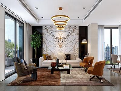 thiết kế nội thất biệt thự hiện đại 3.5 tầng