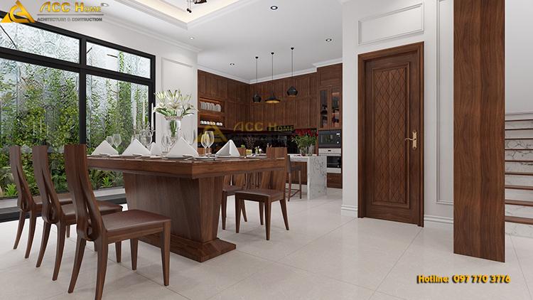 thiết kế nội thất bàn ăn