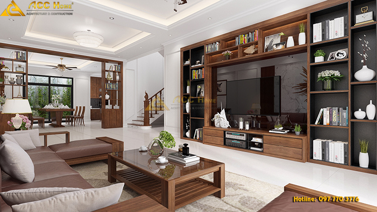 thiết kế phòng khách hiện đại sang trọng