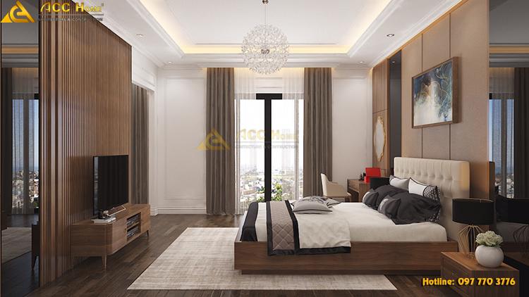 phòng ngủ được thiết kế rộng rãi