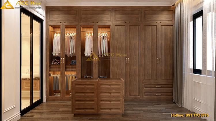 thiết kế nội thất phòng thay đồ