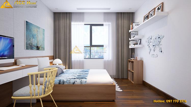 Phòng ngủ được thiết kế với view đẹp