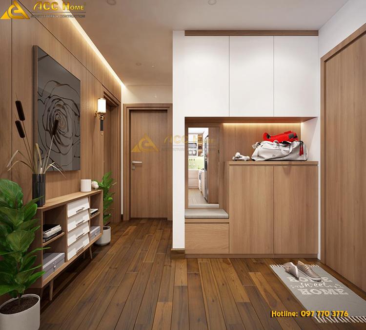 thiết kế nội thất trong căn hộ 122m2