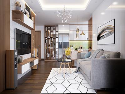 thiết kế nội thất căn hộ cao cấp 122m2