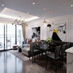 thiết kế nội thất chung cư hiện đại diện tích 120m2