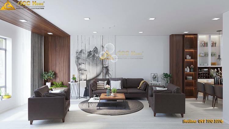 Thiết kế nội thất phòng khách tại An Khánh Hoài Đức