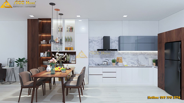 không gian phòng bếp hiện đại