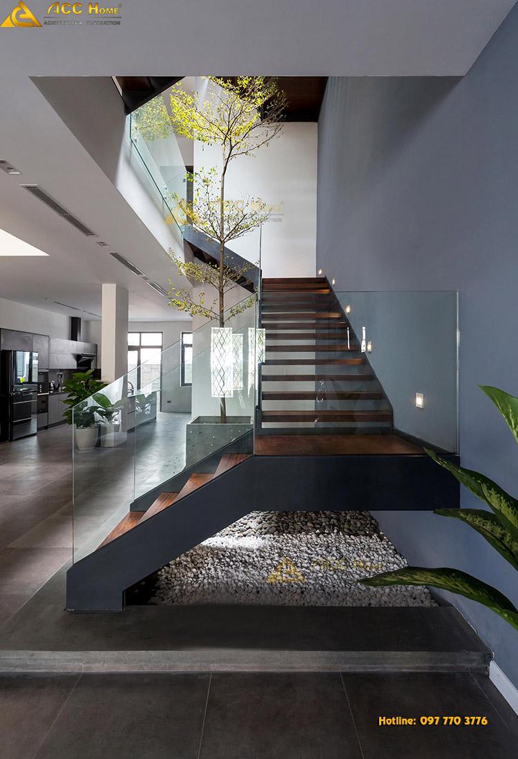 thiết kế bậc thang tam cấp