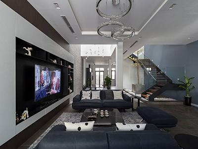 thiết kế nội thất nhà phố hiện đại 300m2