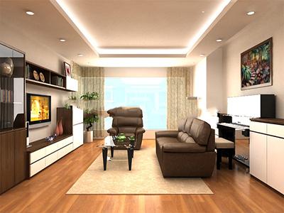 thiết kế phòng khách theo phòng thủy
