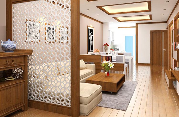 thiết kế nội thất phòng khách gọn nhẹ