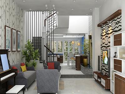 cách trang trí không gian phòng khách nhà phố