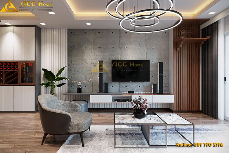 thiết kế nội thất chung cư hiện đại 110m2