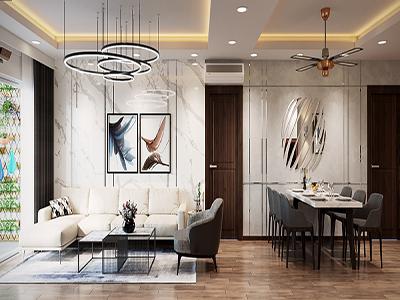 mẫu nội thất chung cư cao cấp 110m2