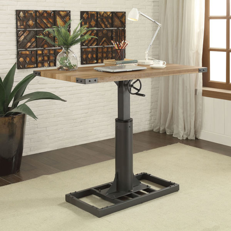 thiết kế bàn làm việc cá nhân 1 chân