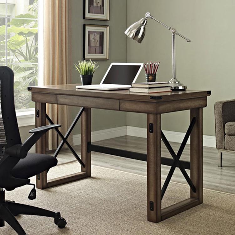 bàn làm việc cá nhân thiết kế bằng gỗ