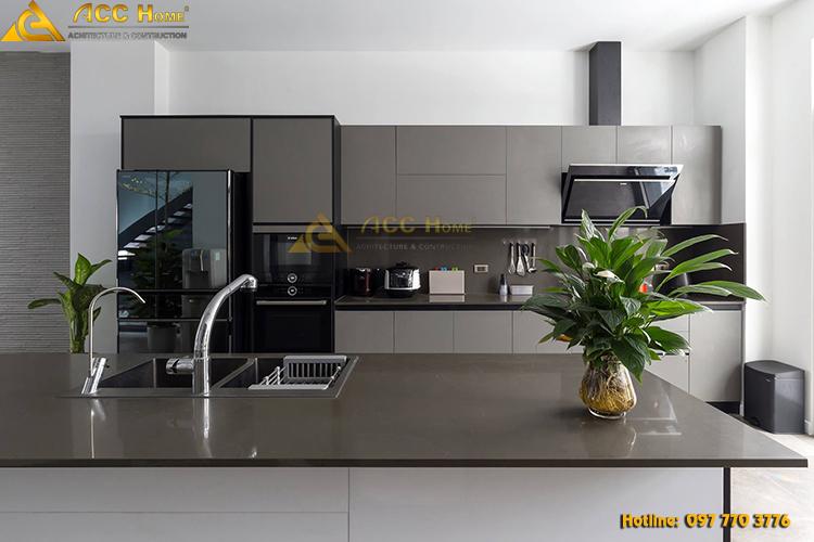 phòng bếp nội thất sang trọng